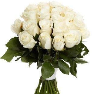 Baltas rozes 50 cm (skaits pēc izvēles)