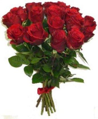 Sarkanas rozes 50 cm (skaits pēc izvēles)