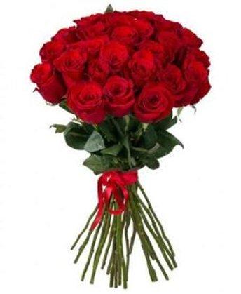 Sarkanas rozes 60 cm (skaits pēc izvēles)