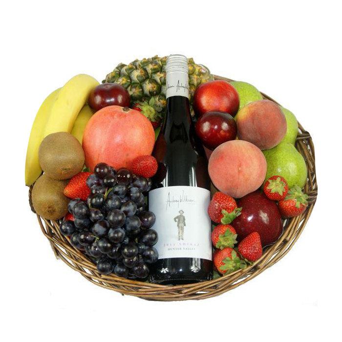 Mazais augļu un sarkanvīna 13% grozs