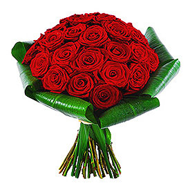 Sarkano rožu pušķis