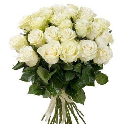 Baltas rozes 60 cm (skaits pēc izvēles)