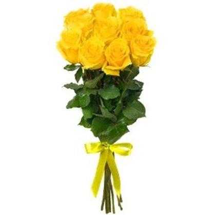 Dzeltenas rozes 40 cm (skaits pēc izvēles)