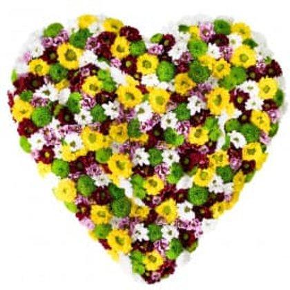 Raibā ziedu sirds 2