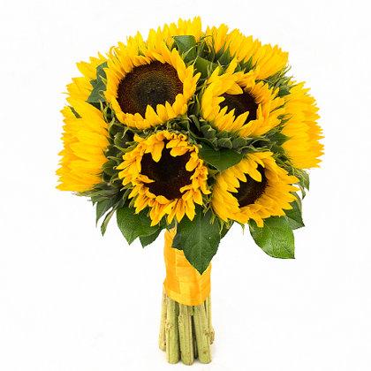 5 saulespuķes