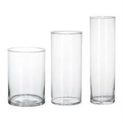 Stikla vāze (atbilstoša pasūtītajiem ziediem)